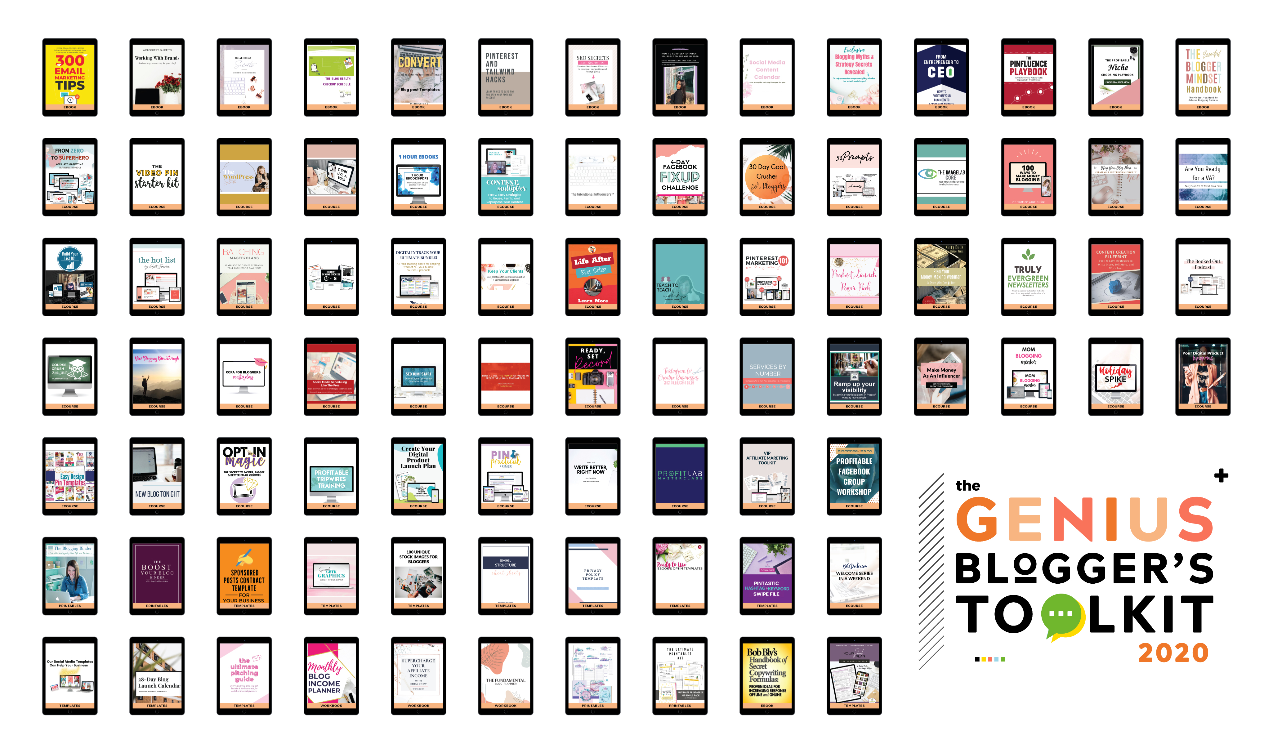 Review of the 2020 Genius Bloggers Toolkit by Ultimate Bundles - eBooks, Courses, Resources and Tools for Blogging Success. Get the details!
